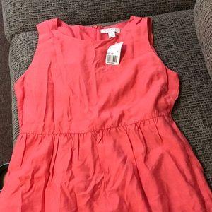 Knee length coral dress